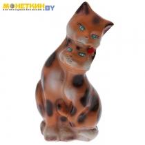 Копилка «Коты пара» большая глянец бежево – леопардовый