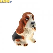 Копилка «Собака Спаниэль» бело – коричневый
