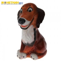 Копилка «Собака Шарик « глянец рыжий