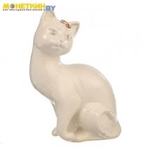Копилка «Кошка Шарлота» глазурь белая
