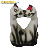 Копилка «Коты Поцелуй» белый