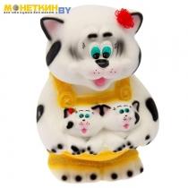 Копилка «Кошка с котятами в кармане» белый