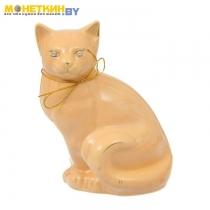 Копилка «Кошка Мурка сидячая» глазурь кремовая
