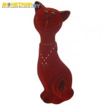 Копилка «Кот Филипп» большой бордовый