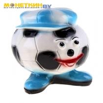 Копилка «Футбольный мяч» синяя