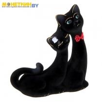Копилка «Кошки Сладкая Пара» Черная