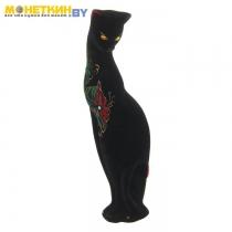 Копилка «Кошка багира» черная камни