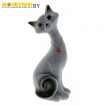 Копилка «Кот Маркиз» малый серый с черным
