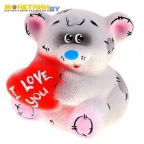 Копилка «Мишка с сердечком»
