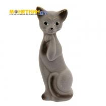 Копилка «Кошка Алиса» средняя серая