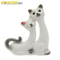 Копилка «Кошки Сладкая пара» белая