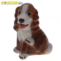 Копилка «Собака Спаниэль» большой глянец бело – коричневый
