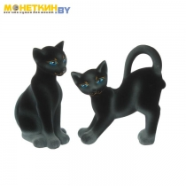 Копилка «Кошка пара Мастер и Маргарита» черный