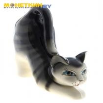 Копилка «Кошка Фаня» глянец серый