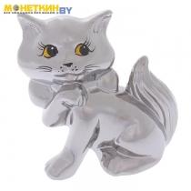 Копилка «Кошка Милка» серебро