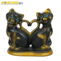 Копилка «Коты Сердце» глянец черный