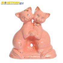 Копилка «Коты танцуюшие» глазурь розовая