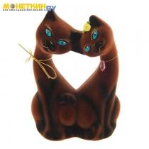 Копилка «Коты Поцелуй» коричневый