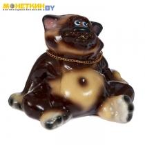 Копилка «Кот толстопуз» малая глянец бежево – шоколадный