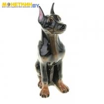 Копилка «Собака Доберман» глянец, черный
