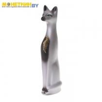 Копилка «Кот» большой акрил узор золото серый