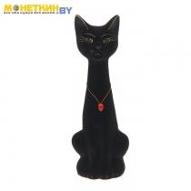 Копилка «Кот Мурзик» малый черный