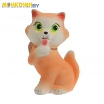 Копилка «Кошка с бантом» персиковый