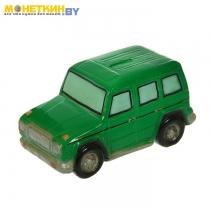Копилка «Машина Гелик» зелёный