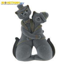 Копилка «Коты пара танго» серый