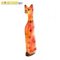 Копилка «Кот» малый глянец рыжий с полосками
