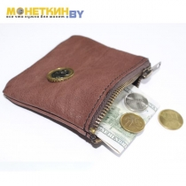 Монетница «№ 3» коричневая
