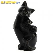 Копилка «Кошка Мама» глянец черная