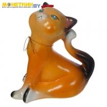 Копилка «Кошка Анфиса» малая глянец желтый