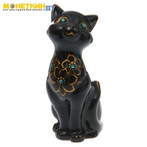 Копилка «Кошка Лола» глянец черная