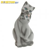 Копилка «Пара котов» большая белая