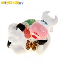 Копилка «Корова» с бабочкой