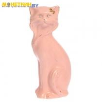 Копилка «Кошка Матильда малая» глазурь розовая