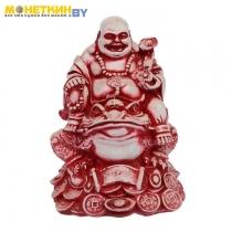Копилка «Будда на жабе» красное