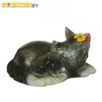 Копилка «Кошка мейн – кун мама» глянец серый