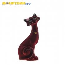 Копилка «Кот Маркиз» большой бордовый