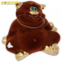 Копилка «Кот толстопуз» средний булат коричневый