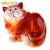Копилка «Кот» сидя рыжий