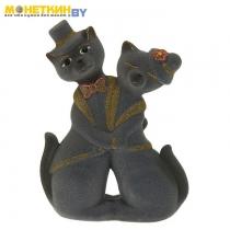 Копилка «Коты пара танго» средняя серый