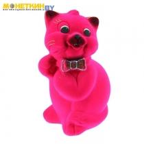 Копилка «Кот Пушистик» розовый