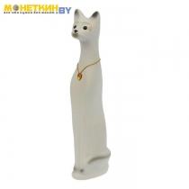 Копилка «Кот» средний белый