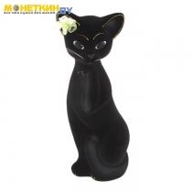 Копилка «Кошка Алиса» средняя черная