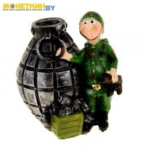 Копилка «Солдат с гранатами»