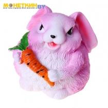 Копилка «Кролик» розовый