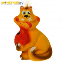 Копилка «Кот с рыбой» желтый
