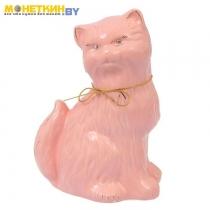 Копилка «Кошка Сима» большая глазурь розовая